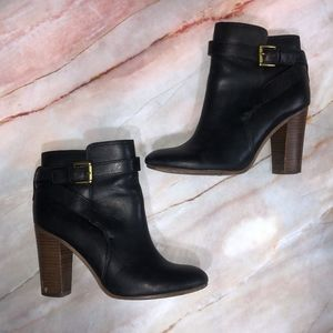 COACH Black Tulah Leather Ankle Boots
